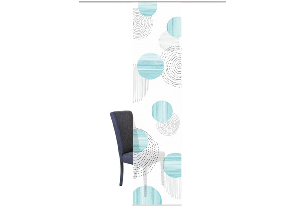 "Home Wohnideen Schiebevorhang Digitaldruck Bambus-optik \""neomi\"" Mint 260 x 60 cm"