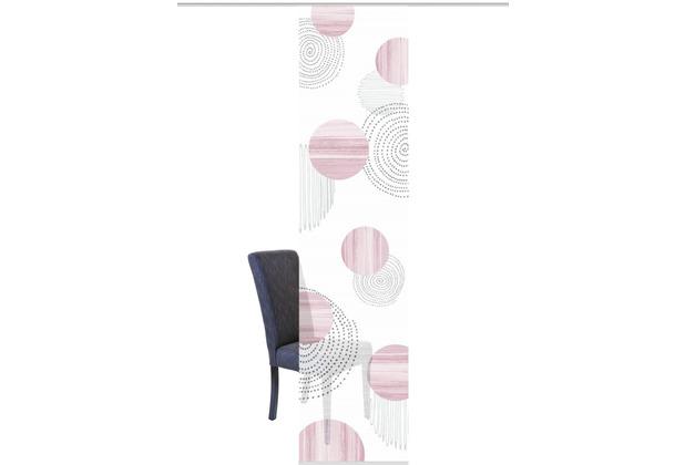 "Home Wohnideen Schiebevorhang Digitaldruck Bambus-optik \""neomi\"" Rose 260 x 60 cm"