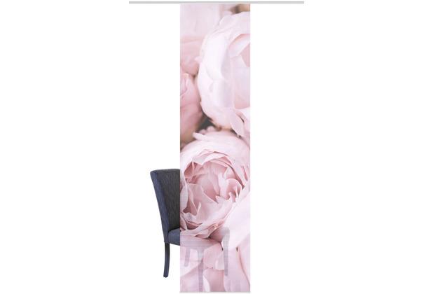 "Home Wohnideen Schiebevorhang Digitaldruck Bambus-optik \""rosana\"" Rose 260 x 60 cm"