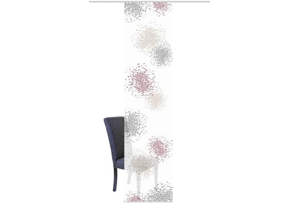 "Home Wohnideen Schiebevorhang Digitaldruck Bambus-optik \""spotti\"" Beere 260 x 60 cm"