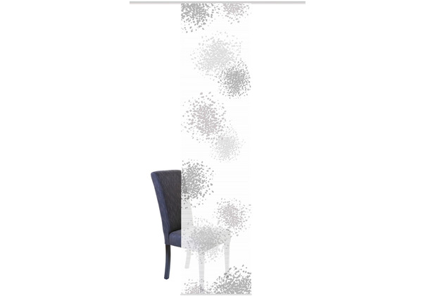 "Home Wohnideen Schiebevorhang Digitaldruck Bambus-optik \""spotti\"" Grau 260 x 60 cm"