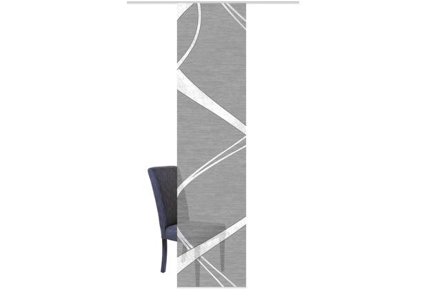 """Home Wohnideen Schiebevorhang Digitaldruck Bambus-optik \""""tibano Mitte\"""" Anthrazit 260 x 60 cm"""