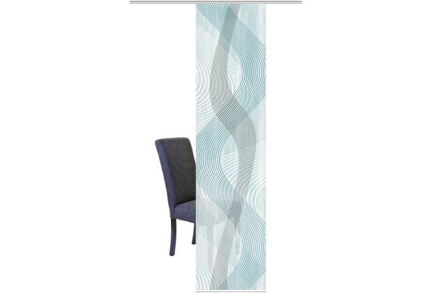 "Home Wohnideen Schiebevorhang Digitaldruck Bambus-optik \""valesi\"" Mint 260 x 60 cm"