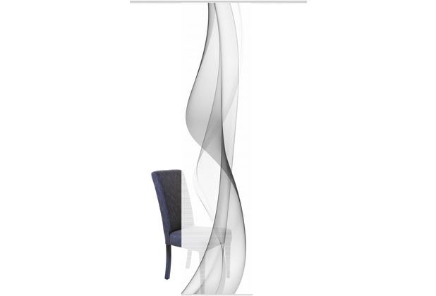 "Home Wohnideen Schiebevorhang Digitaldruck Bambus-optik \""welario\"" Grau 260 x 60 cm"