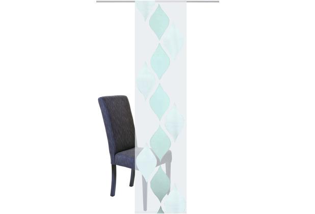 Home Wohnideen Schiebevorhang Effektvoile Scherli Mint 245 x 60 cm