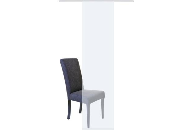 Home Wohnideen Schiebevorhang Uni Voile Weiss 245 x 60 cm