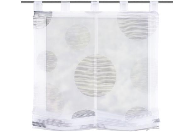 """Home Wohnideen Schlaufenraffrollo Voile Digitaldruck \""""borden\"""" Stein 140 x 100 cm"""