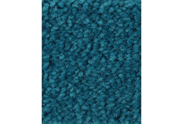 ilima Teppichboden Hochflor Velours PAMIRA/PRISCILLA Mittelblau 400 cm breit
