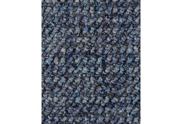 ilima Teppichboden Schlinge gemustert ANEMONE/REVUE blau 400 cm breit
