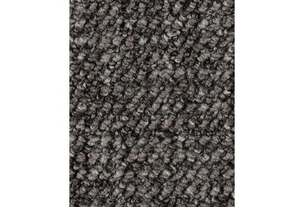 ilima Teppichboden Schlinge gemustert ANEMONE/REVUE dunkelgrau 400 cm breit