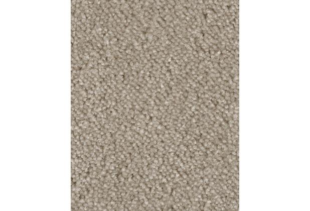 ilima Teppichboden Velours AMBER meliert beige/grau 400 cm breit