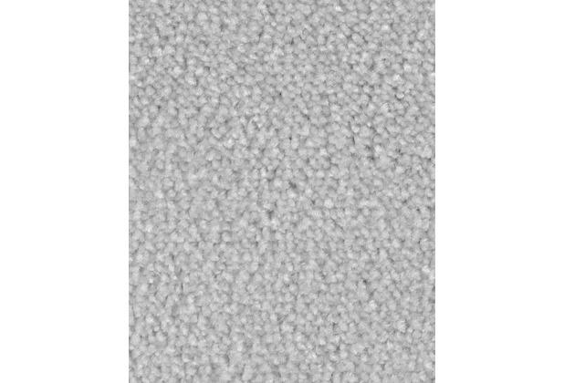 ilima Teppichboden Velours AMBER meliert hellgrau 400 cm breit