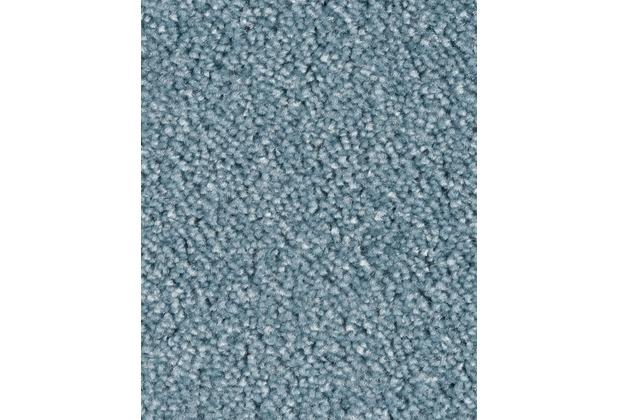 ilima Teppichboden Velours AMBER meliert himmelblau 400 cm breit