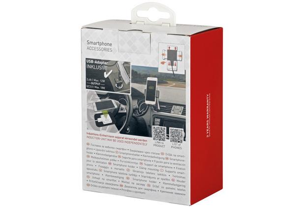 hr-imotion  Smartphonehalter Wireless Charging mit Doppel-Lüftungsbefestigung - 10W - 23511401