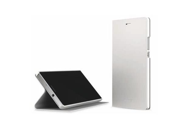 Huawei Ascend P7 Flip Case/Flip Tasche white