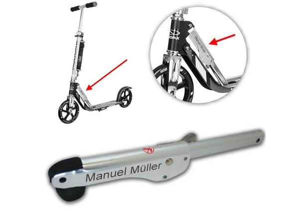 HUDORA Klappmechanismus MIT GRAVUR (z.B. Namen) Ersatzteil/Zubehör für BigWheel 205 (Trittbretthöhe ca. 7 cm) und Big Wheel RX-Pro 205