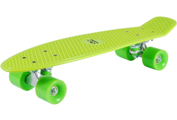HUDORA Skateboard Retro Lemon Green