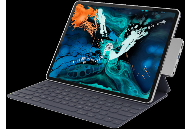 HYPER Drive Hub 4-in-1, Apple iPad Pro 11 & 12,9 (2018), space grau, HD319E-GRAY