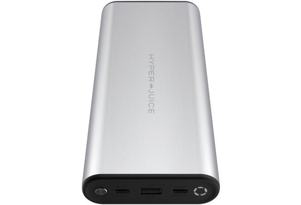 HYPER Juice 130W Dual USB-C Ladegerät + QC 3.0 USB-A, 27000mah, silber, HJ307-SILVER