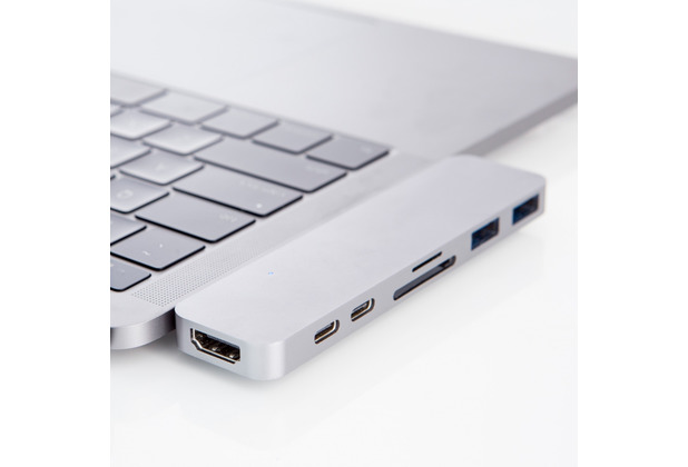 HYPER Drive DUO Hub 7-in-2, Apple MacBook Pro 13/15 (2016 - 2019), silber, GN28B-SILVER