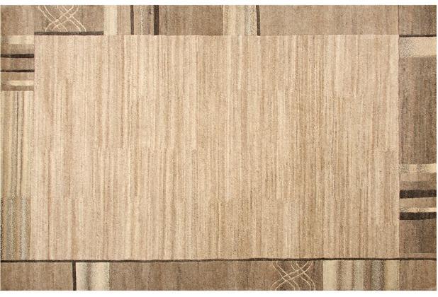 Kelii Nepalteppich Natural Living Wunschmaß In Indien handgeknüpfter Nepalteppich aus 80% Wolle & 20% Baumwolle, ca. 56000 Knoten pro m²