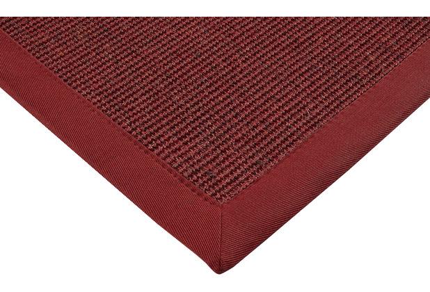 ilima Sisalteppich Agave Deluxe rot-mel. Wunschmaß ohne Fleckenschutz