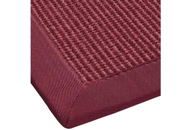 ilima Sisalteppich, Agave Deluxe, rot Wunschmaß mit Fleckenschutz