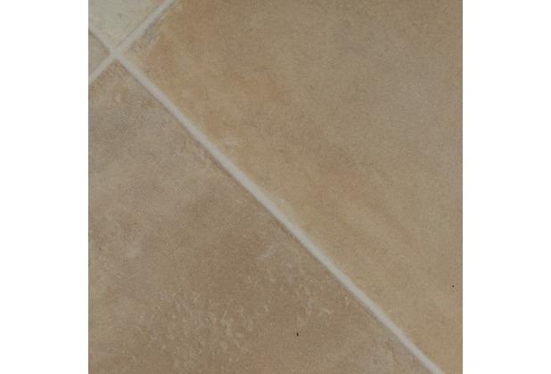 ilima Vinylboden PVC Fliesenoptik diagonal hell-beige 200 cm breit