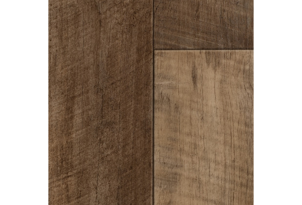 ilima Vinylboden PVC Holzoptik MADISON Diele Eiche braun rustikal 200 cm breit