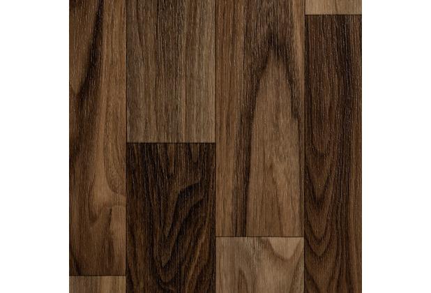 ilima Vinylboden PVC Holzoptik Schiffsboden Nussbaum 200 cm breit