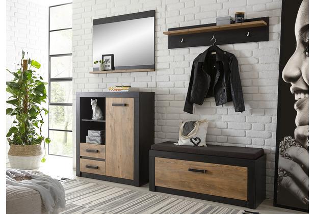 IMV Garderobe-Set Brügge G5 schwarz, kastanie