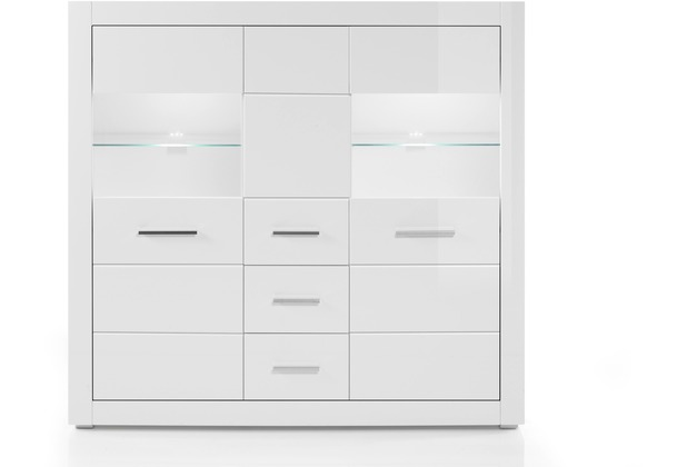 IMV Highboard Bianco, weiß Kommode