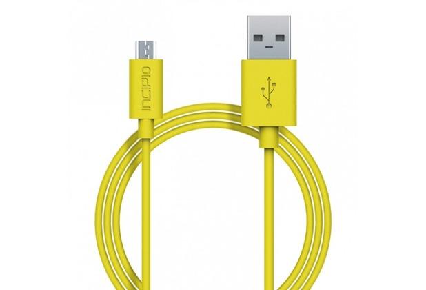 Incipio Charge/Sync Micro-USB Kabel 1m gelb PW-200-YLW