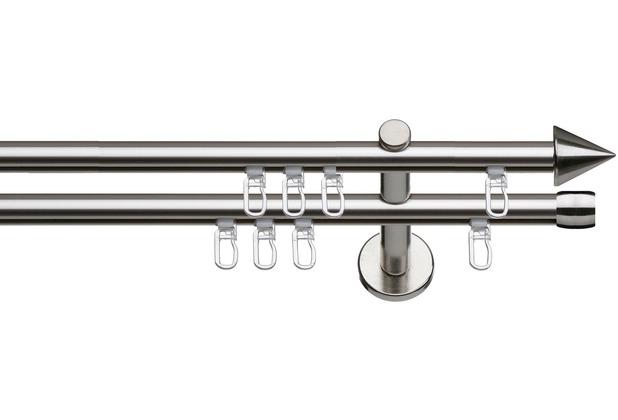 indeko Innenlaufsystem Ø16 Brig, 2-läufig, edelstahloptik 120 cm