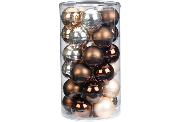 Inge Glas Kugel, Glas, 6 cm, 30 Stk. Pretty Luxury