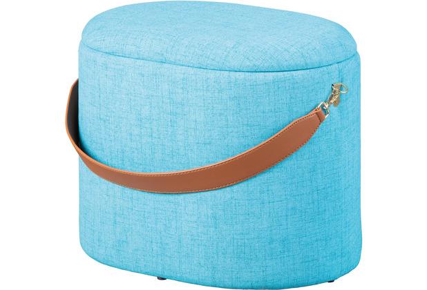Inter Link Hocker \'Dilia\' ocean blue Textil mit Griff PU