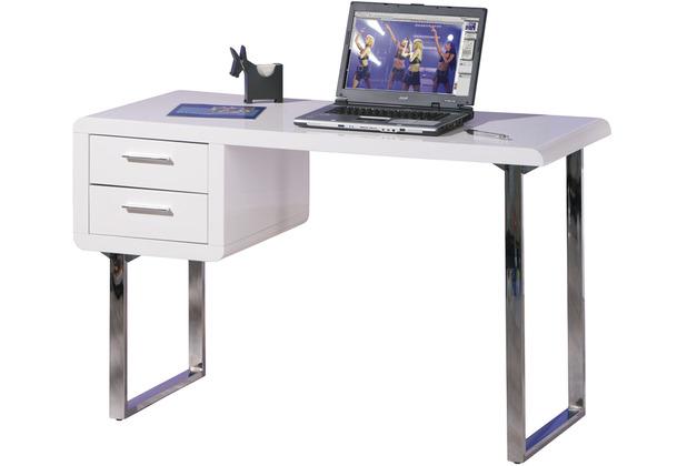 Inter Link Schreibtisch \'Claude\' weiss 2 Schubladen