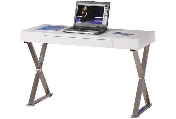 Inter Link Schreibtisch \'Grace\' Weiß/Chrom
