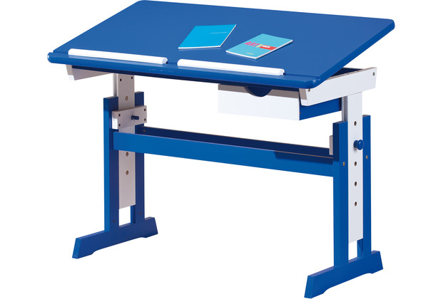 Inter Link Schreibtisch \'Paco\' 109x55cm mit SL blau/weiss