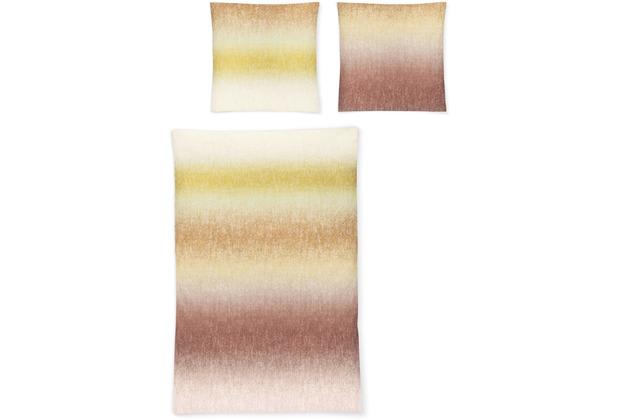irisette biber feel 8205 kupfer Bettwäsche 135x200 cm, 1 x Kissenbezug 80x80 cm