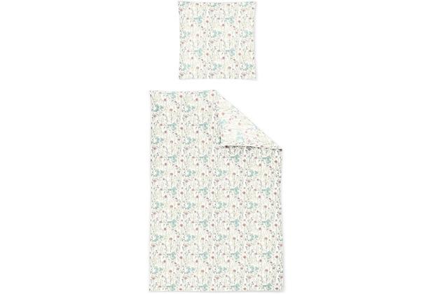 irisette biber feel 8213 rosa Bettwäsche 135x200 cm, 1 x Kissenbezug 80x80 cm