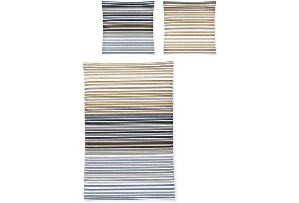 irisette biber feel 8216 blau Bettwäsche 135x200 cm, 1 x Kissenbezug 80x80 cm