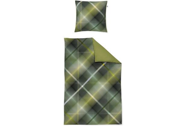 irisette Mako-Satin juwel-k 8818 grün Bettwäsche 135x200 cm, 1 x Kissenbezug 80x80 cm