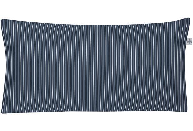 irisette Mako-Satin cedar 8742 indigo Kissenbezug 40x80 cm