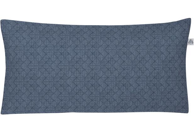 irisette Mako-Satin pine 8743 indigo Kissenbezug 40x80 cm