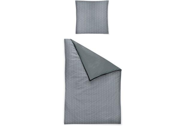 irisette Mako-Satin palma 8257 grau Bettwäsche 135x200 cm, 1 x Kissenbezug 80x80 cm