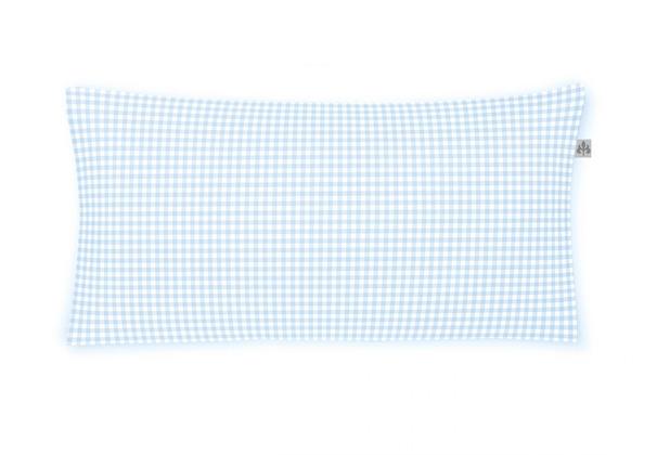 irisette Mako-Satin twist 8626 sky Kissenbezug 40x80 cm