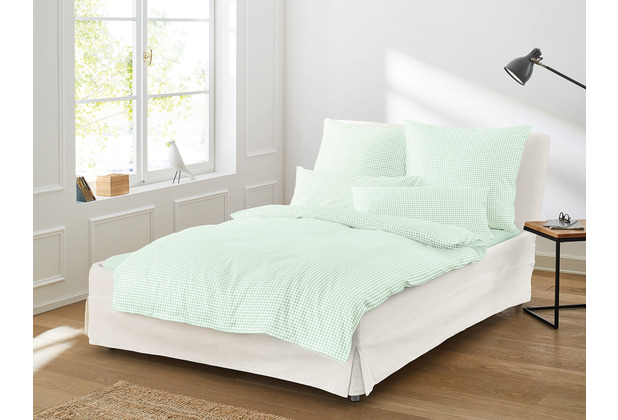 irisette SATIN BETTWÄSCHE TWIST 8626 Mint 135 x 200