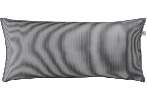 irisette mako-satin linea 8021 grafit Kissenbezug 40x80 cm