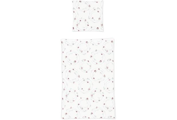 irisette seersucker calypso 8164 rosa Bettwäsche 135x200 cm, 1 x Kissenbezug 80x80 cm